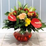 Bouquet rond dans un vase