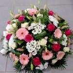 Coussin fleurs de deuil