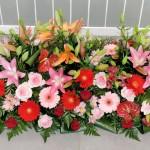 Dessus de Cercueil fleurs de deuil