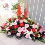Devant de Tombe fleurs de deuil